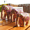 Handpainted colourful Indian painted-paper Elephants