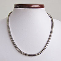 Indian Snake Chain Ø 5mm *Eyelet detachable* 925 Sterling Silver