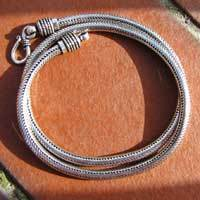 Indian Snake Chain Ø 5mm unscrewable 925 Silver /'Bikaner' 6-1