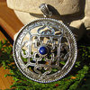 Indian Amulet Silver Ethnic Jewelry with Lapis Lazuli 15-4
