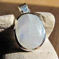 Indian Moonstone Jewelry Silver Pendant 18-1-1