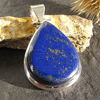 Beautiful Indian Lapis Lazuli Pendant Jewelry in Silver