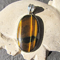 Indian Pendant with Tiger's-eye in 925 Silver