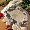 Noble Silver Bracelet - ornated Moonstone in oval shape
