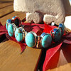 "Indian Silver Bracelet Jewelry with Turquoise - ""Goa/75"""