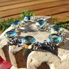 Bracelet with Blue Topaz - Indian 925 Silver Jewelry