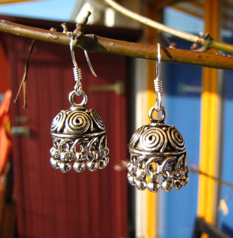 Indian Ethnic Jewelry Earrings 925 Silver /21