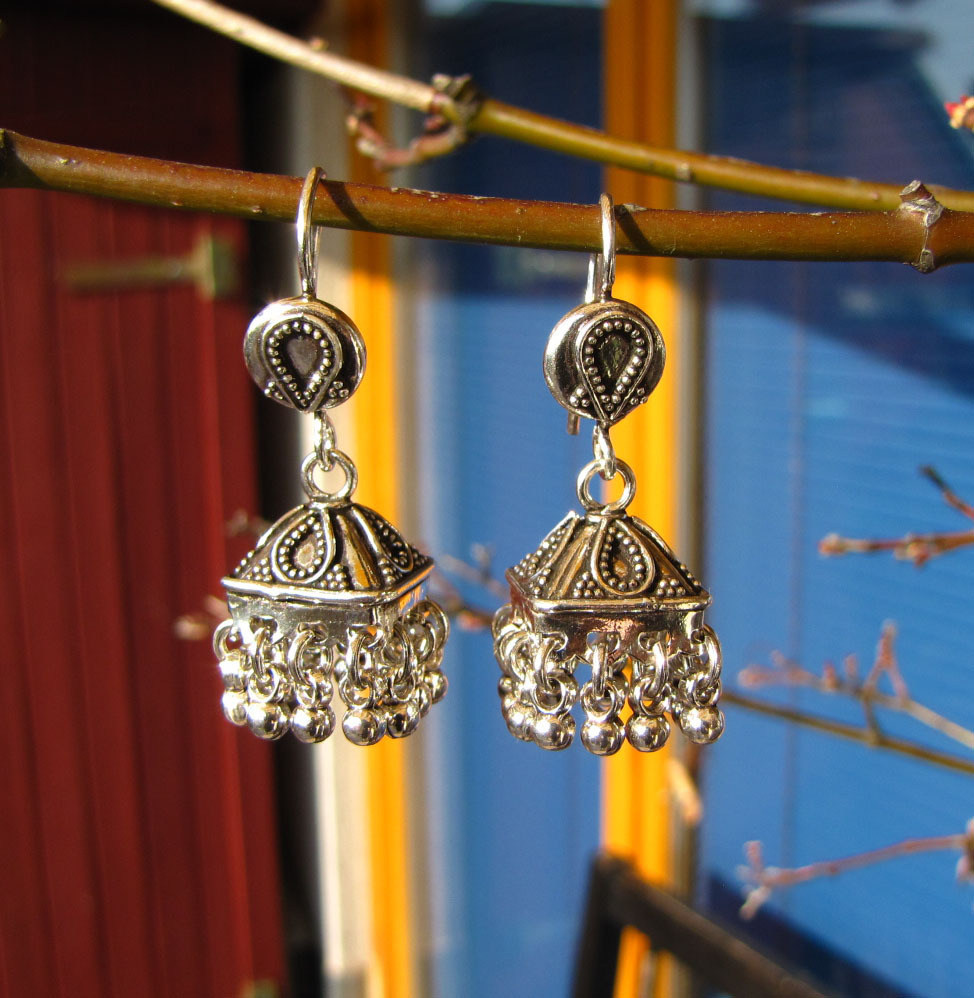 Unique Earrings Ethnic style - Indian Jewelry 925 Silver