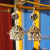 Unique Indian Ethnic Jewelry Earrings 925 Sterling Silver /23