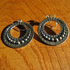 Indian Hoop Earrings Jewelry in Ethnic Design pure Silver