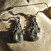 Indian Blue Topaz Earrings Silver- attractive Ethnic Style