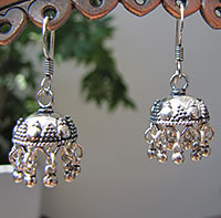Lovely Earrings in Ethnic Design - 925 Silver Jewelry
