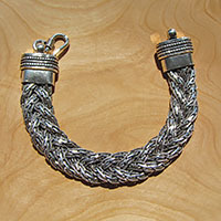 Braided Bracelet • Indian Ethnic Design in 925 Silver