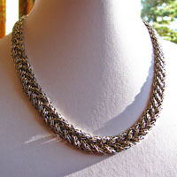 Necklace braided Ethnic Design - Indian 925 Silver Jewelry