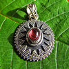 Indian tourmaline jewelry silver pendant