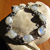 Bracelet with Moonstone - Indian 925 Silver Jewelry