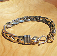 Indian Ethnic Bracelet Snake Chain braided 925 Sterling Silver