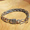 Indian braided Bracelet Ethnic look 925 Silver