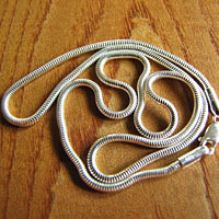Indian high-gloss Snake Chain Ø 2mm pure 925 Sterling Silver