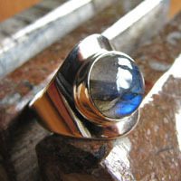Indian Labradorite Rings Jewelry 925 Silver - Elegant Design