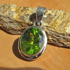 Indian Peridot Pendant - Premium Silver Jewelry