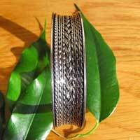 Indian 925 Silver Bangle embellished - 'Madras/17-2'