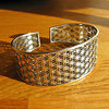 Indian Bangle 'Flower of Life' 925 Sterling Silver
