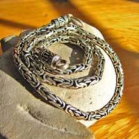 Indian King's Chain Ø 5 mm 925 Sterling Silver Necklace 17-3-1