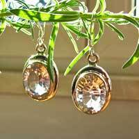 Sparkling Rock Crystal Earrings - Indian Silver Jewelry