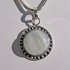 Indian Pendant Moonstone round ornated in 925 Silver