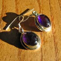 Charmanter Ohrringe Schmuck - Amethyst in 925 Silber