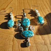 Sea Jasper - elegant Premium 925 Silver Jewelry Set