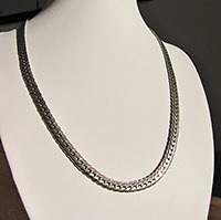 Indian Ethnic Necklace fine Braided Pattern 925 Silver