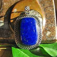 Splendid Indian Lapis Lazuli Silver Jewelry Pendant