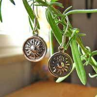 Indian Ethnic Earrings from 925 Silver with Sun 17-1