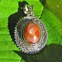 Indian sunstone silver pendant jewelry 18-2