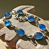 Azure Blue Chalcedony Bracelet - Indian Silver Jewelry