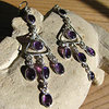 Charming Amethyst Earrings - Indian Jewelry 925 Silver