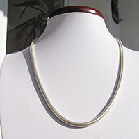 Indian Snake Chain Ø 4mm high-gloss 925 Silver - 18-2-1
