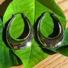 Big Hoop Earrings in elegant Design - Silver Jewelry