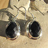 Indian Earrings Jewelry Onyx faceted in 925 Silver