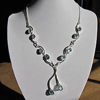 Indian Blue Topaz Jewelry Necklace 925 Silver - 18-2