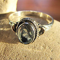 Indian 925 Sterling Silver Ring Jewelry with Blue Topaz