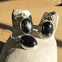 Black Star of India Premium Silver Jewelry Set 18-1