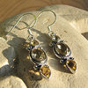 Charming Citrine Earrings - Indian Design 925 Silver