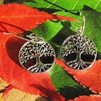 Tree of Life Symbol - Indian 925 Silver Earrings 18-1