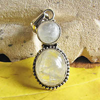 Indian silver pendant with moonstone jewelry 18-4