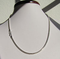 Indian Snake Chain Ø 2.6mm high-gloss 925 Silver - 18-3-1