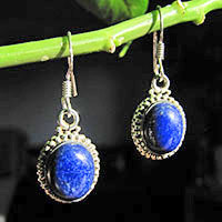 925 Sterling Silver Earrings Jewelry with Lapislazuli 18-1