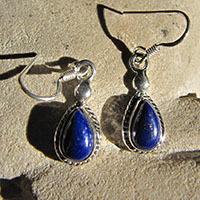 Lapis Lazuli 925 Sterling Silver Earrings Jewelry 18-2
